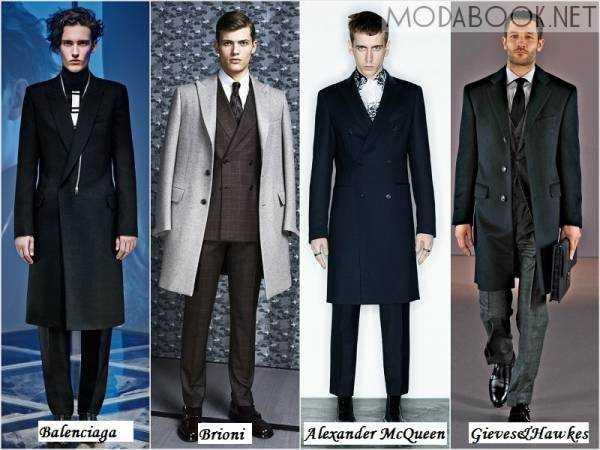 Мужские пальто осень зима 2014 2015. При цьому дизайнери використовують  спокійні кольори 4063ea65100b7
