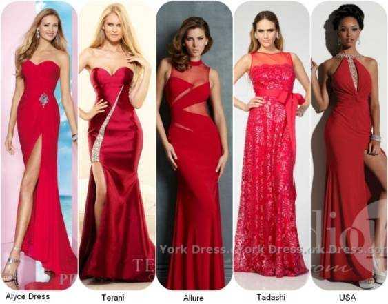 Фото красных выпукных платьев 2014 года