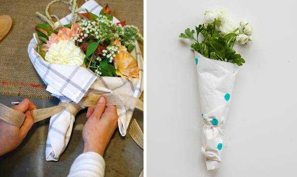 Как упаковать цветы своими руками