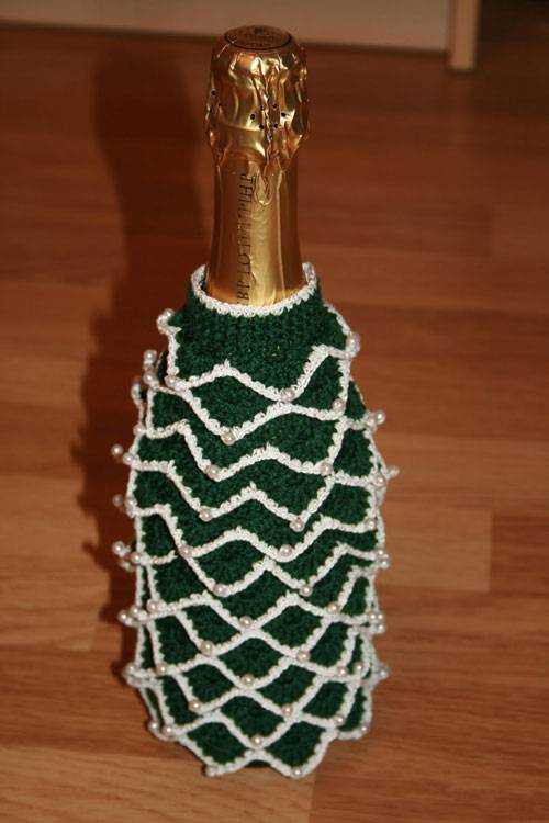 Вязание украшений на бутылку 40