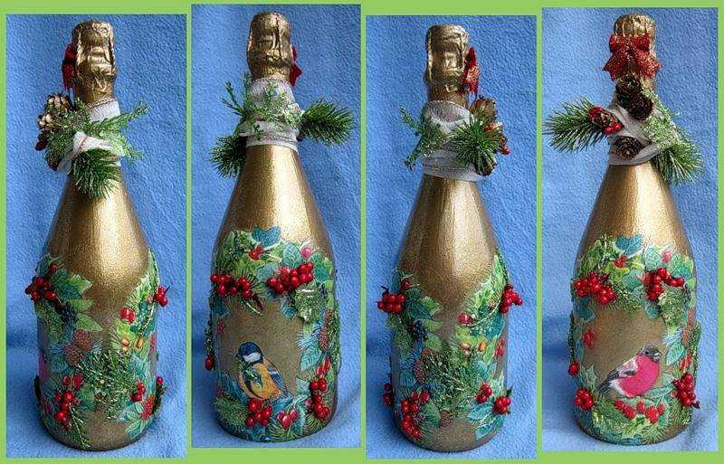 Подарки своими руками украсить бутылку 296