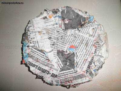 Тарелка из бумаги и клея своими руками 17