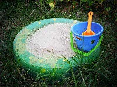 Как сделать песочницу из покрышки своими руками 126