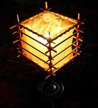 светильник из палочек для суши своими руками видео ноябрь Скорпион работа
