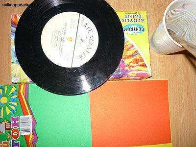Как сделать виниловую пластинку из картона