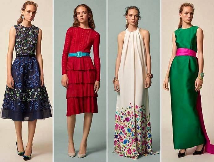 Мода платьев лето 2017-2018