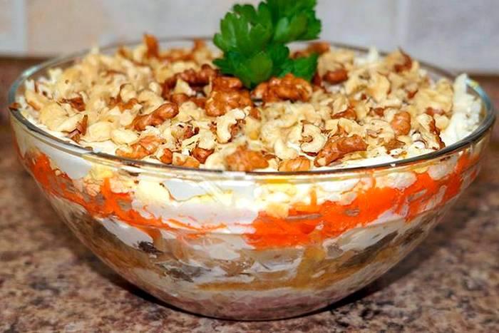 Вкусные салаты 2017-2018 рецепты с новые на день рождения