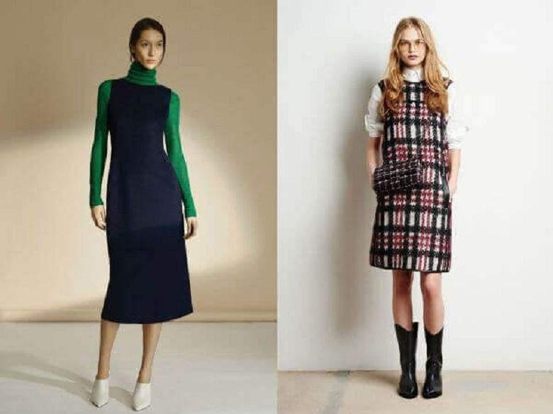 129abdd1e93f29 Модні жіночі плаття сезону осінь-зима 2018 року