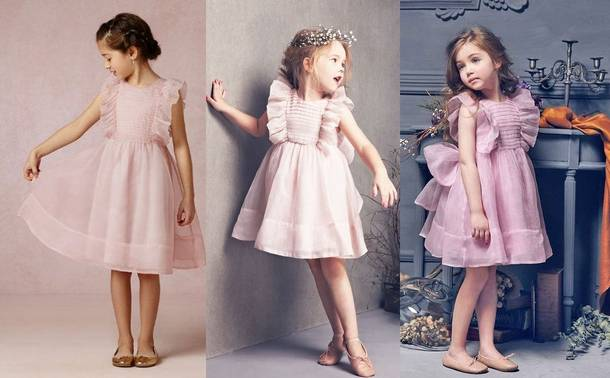 7930ed54d85658 Ніжне плаття з воланами. Новорічні сукні 2018 для дівчаток: красиві святкові  дитячі ...